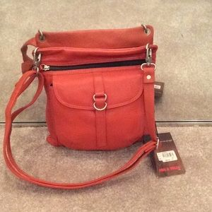 Orange, tangerine, Paul Taylor leather bag, nwt
